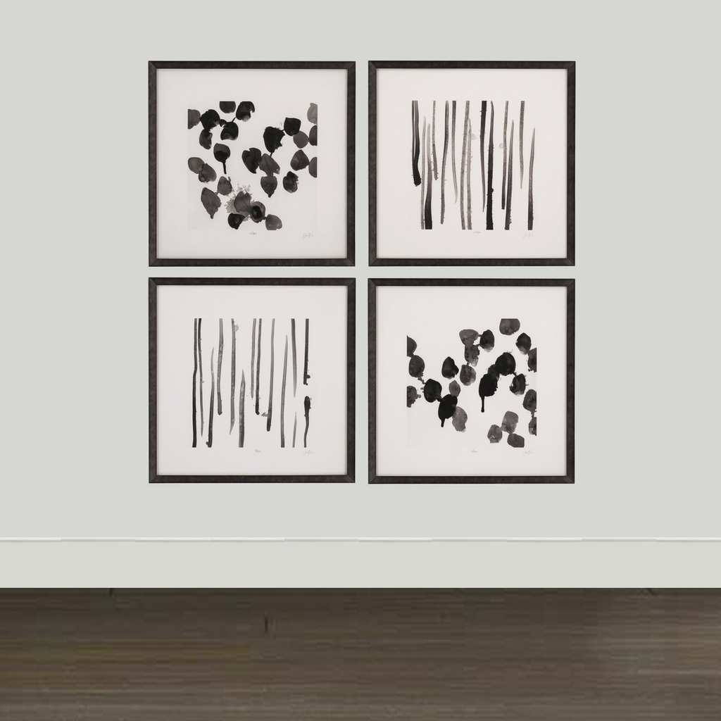 Bassett Mirror Company Artwork Bassett Mirror Co. Monochrome Gestures (Set of 4)