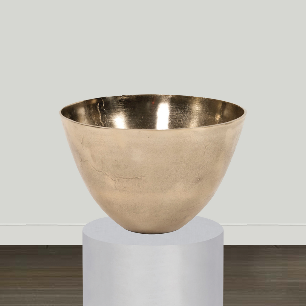 Howard Elliott Champagne Gold Aluminum Bowl