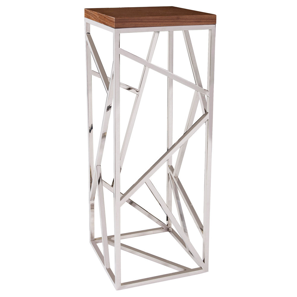 Howard Elliott Angles 16in Stainless Steel Side Table