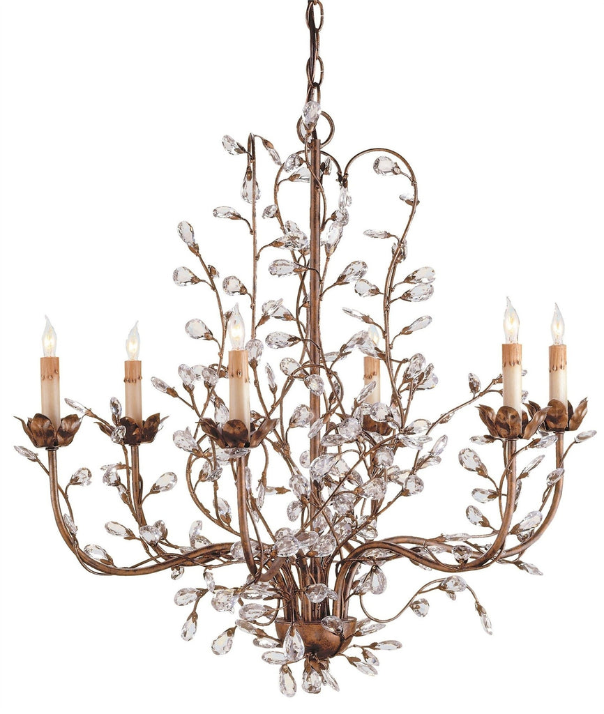 Currey & Company Lighting Currey & Co. Crystal Bud Chandelier