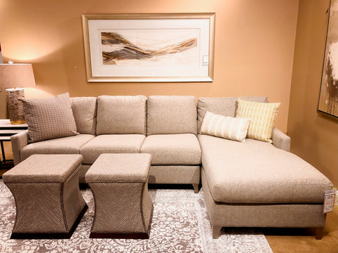 Davids Neutral Sectional Chaise Sofa