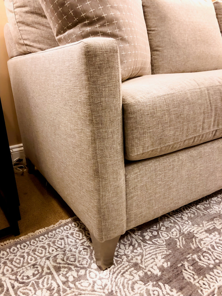 Bassett Neutral Sectional Chaise Sofa