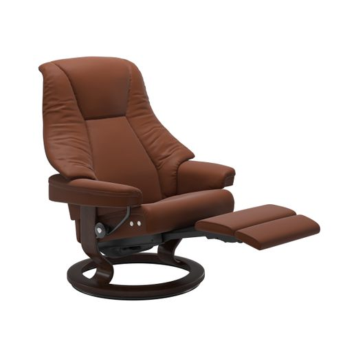 Stressless Quick Ship Live LegComfort Base Recliner and Ottoman