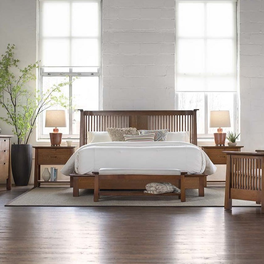 Stickley Bed Stickley Park Slope Platform King Bed