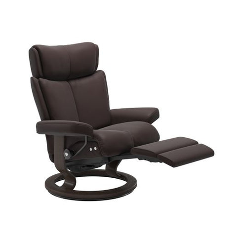 Stressless Quick Ship Magic LegComfort Base Recliner and Ottoman