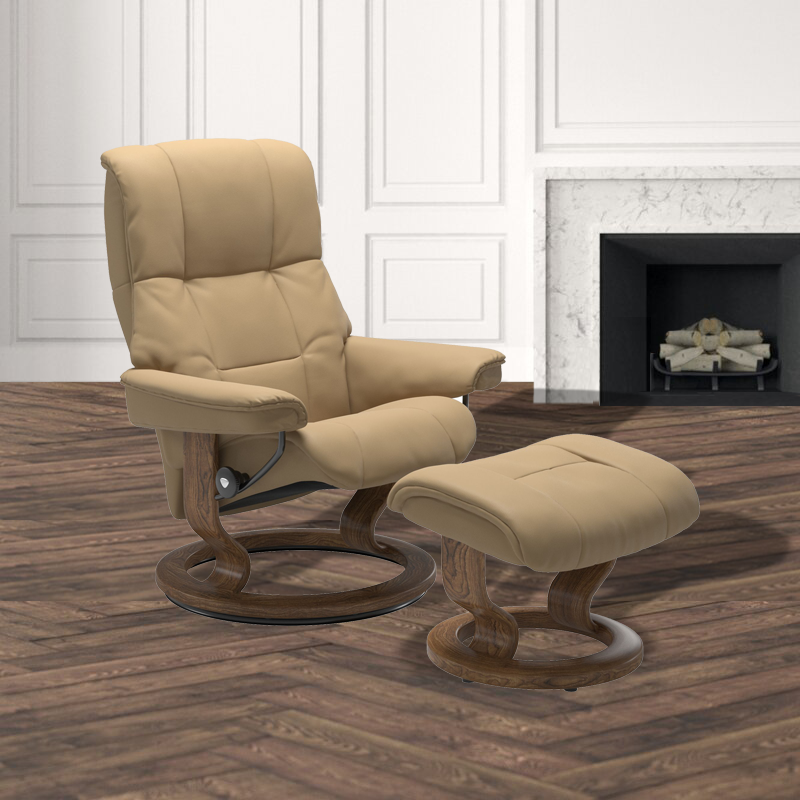 Ekornes Stressless Mayfair Paloma Classic Recliner and Ottoman