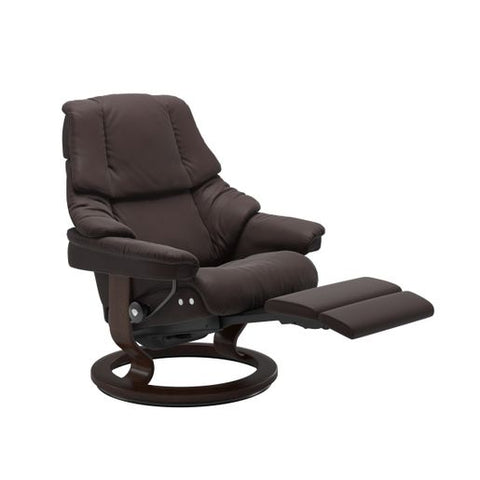 Stressless Quick Ship Reno LegComfort Base Recliner and Ottoman