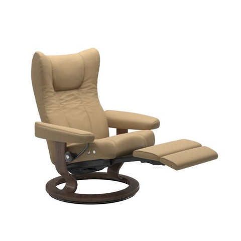 Stressless Quick Ship Wing LegComfort Base Recliner and Ottoman