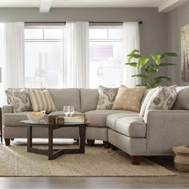 Cozy Life C9 Custom Turino Three Piece Quick Ship Corner Sectional Sofa