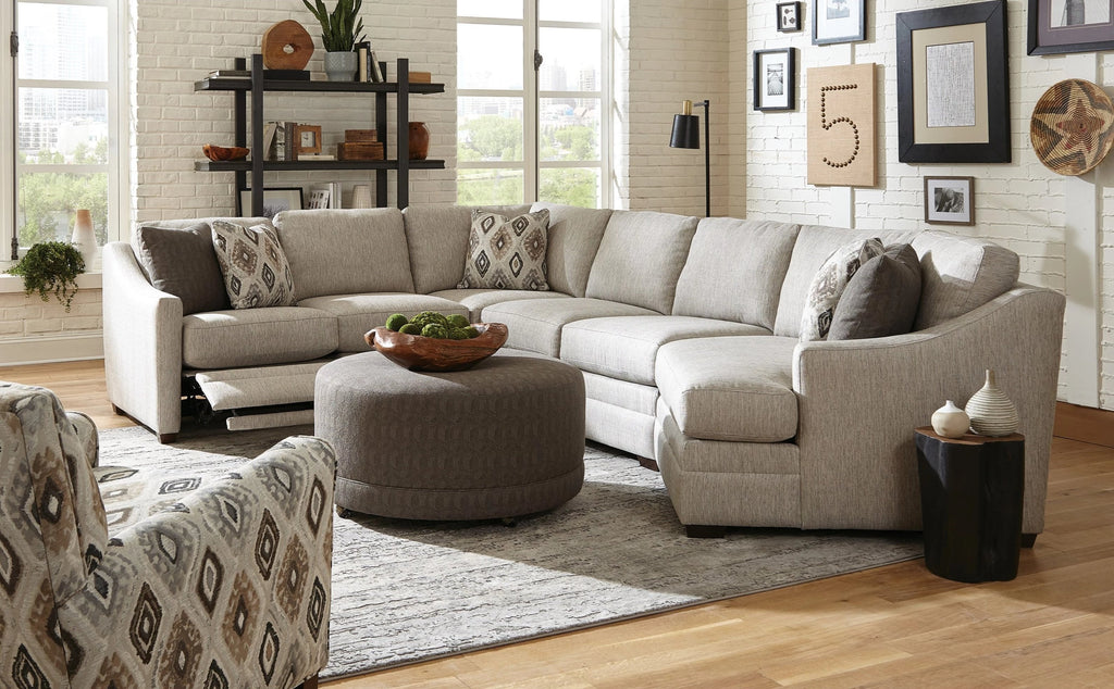 Cozy Life Fabric Motion Sectional Cozy Life F9  Custom Kaydence Quick Ship Reclining Sectional Sofa