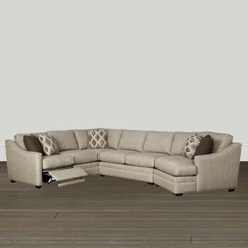 Cozy Life F9  Custom Kaydence Quick Ship Reclining Sectional Sofa