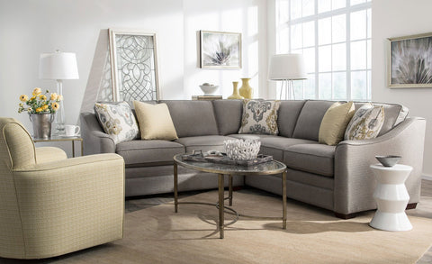 Craftmaster F9 Custom Sugarshck Quick Ship Sectional Sofa
