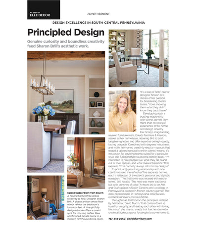 Davids Featured in House Beautiful