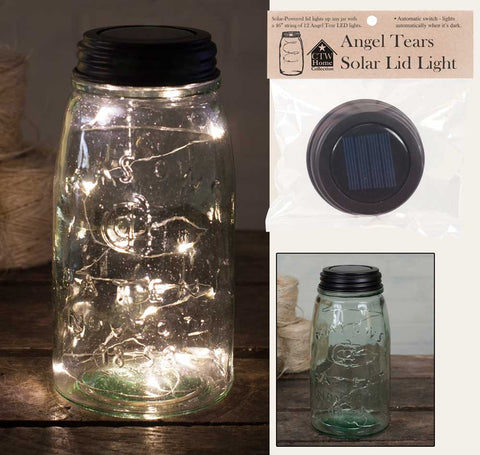 Mason Lid Solar Light - Angel Tears