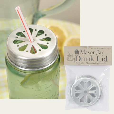 Mason Jar Drink Lid or Candle Cover