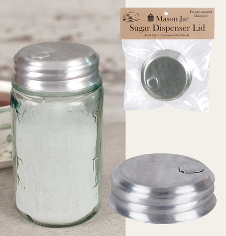 Lid - Mason Jar Sugar Dispenser