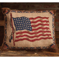 Ol' Glory Burlap Pillow