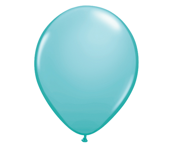 "11"" Caribbean Blue Latex Balloon - 6 Pack"