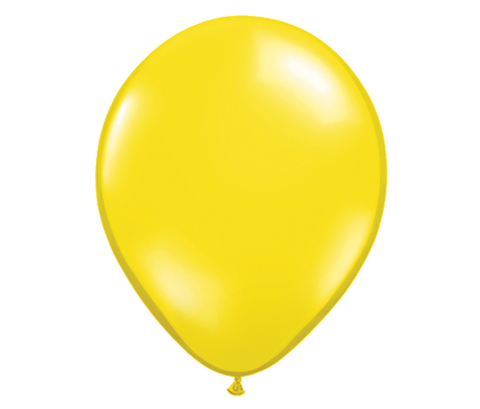 "11"" Jewel Citrine Yellow Latex Balloon - 6 Pack"