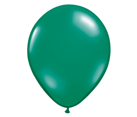 "11"" Jewel Emerald Green Latex Balloon - 6 Pack"