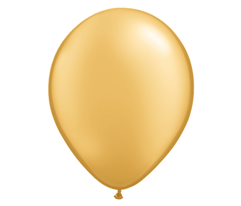 "11"" Gold Latex Balloon - 6 Pack"