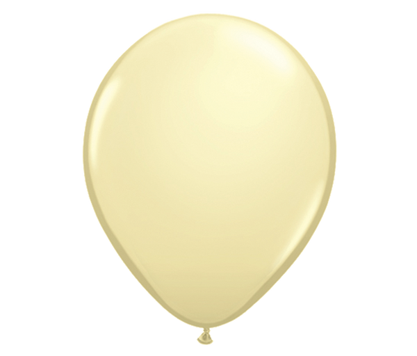 "11"" Ivory Latex Balloon - 6 Pack"