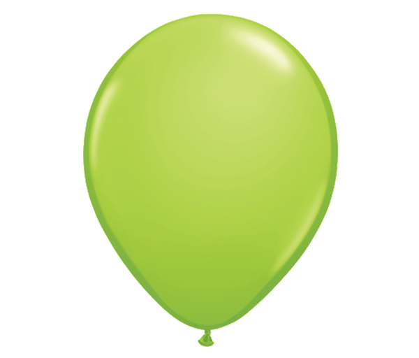 "11"" Lime Green Latex Balloon - 6 Pack"