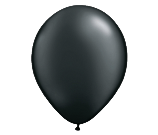 "11"" Pearl Black Latex Balloon - 6 Pack"