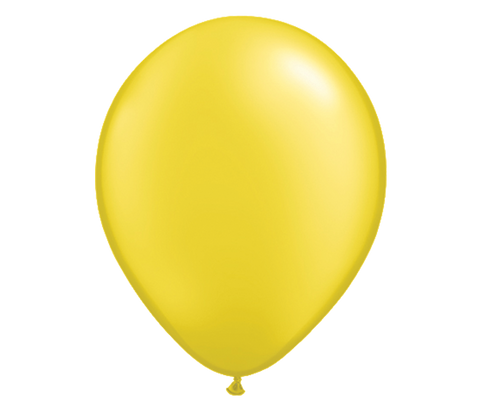 "11"" Pearl Citrine Yellow Latex Balloon - 6 Pack"