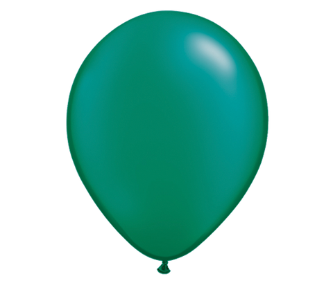 "11"" Pearl Emerald Green Latex Balloon - 6 Pack"