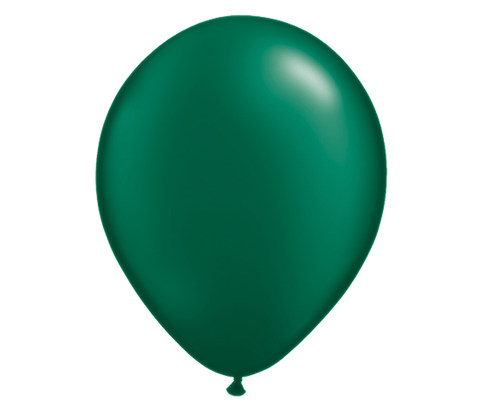 "11"" Pearl Forest Green Latex Balloon - 6 Pack"