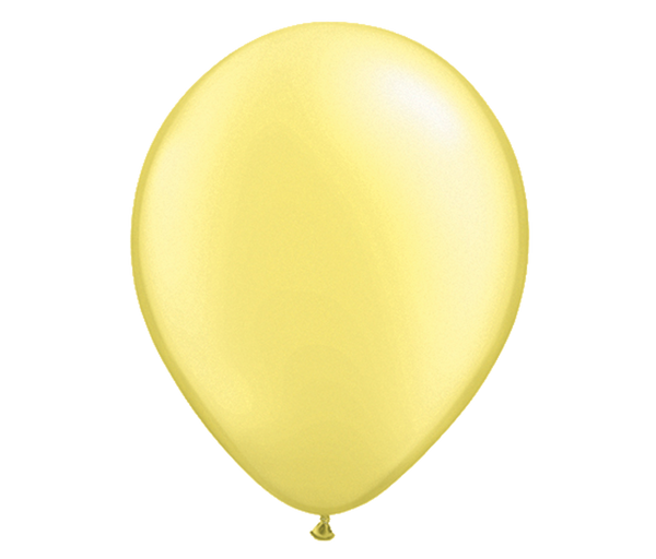 "11"" Pearl Lemon Chiffon Latex Balloon - 6 Pack"