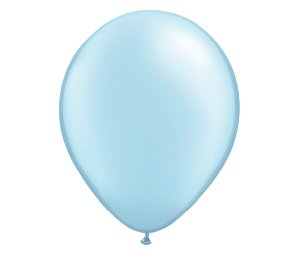 "11"" Pearl Light Blue Latex Balloon - 6 Pack"