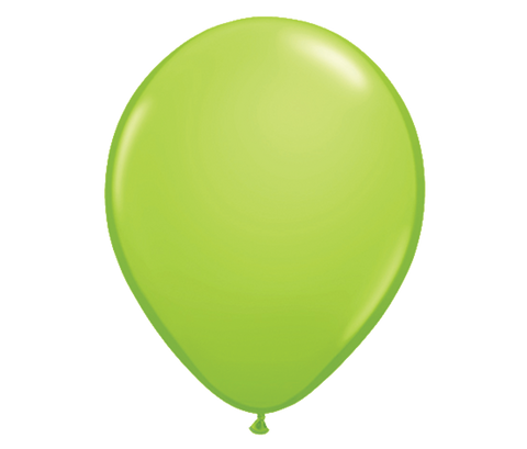 "11"" Pearl Lime Green Latex Balloon - 6 Pack"