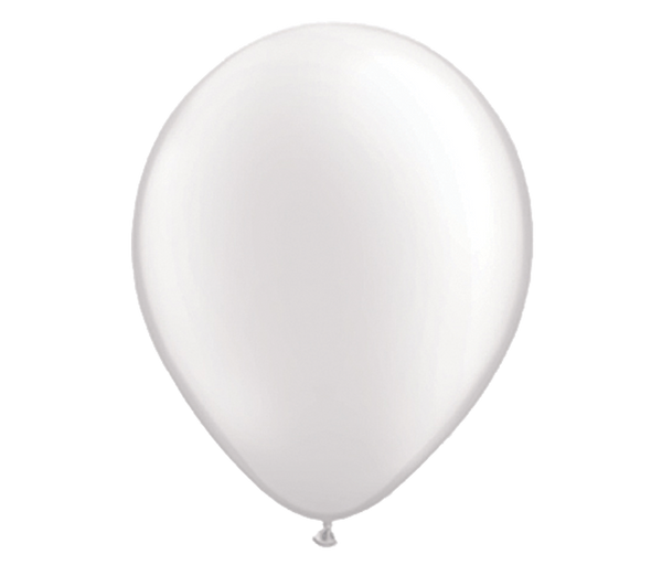 "11"" Pearl White Latex Balloon - 6 Pack"