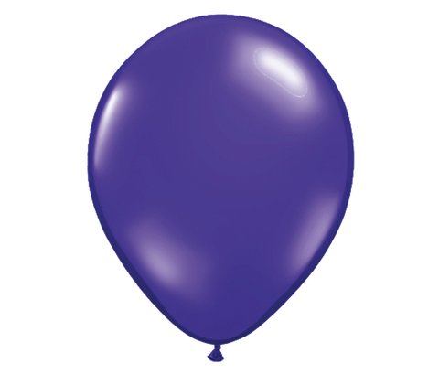 "11"" Jewel Quartz Purple Latex Balloon - 6 Pack"