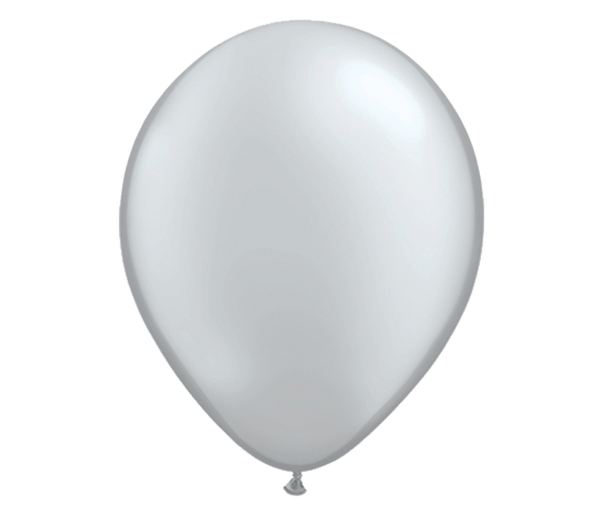 "11"" Silver Latex Balloon - 6 Pack"