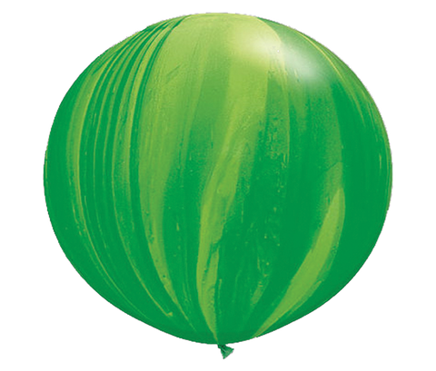 "30"" Green Tie-Dye Latex Balloon"