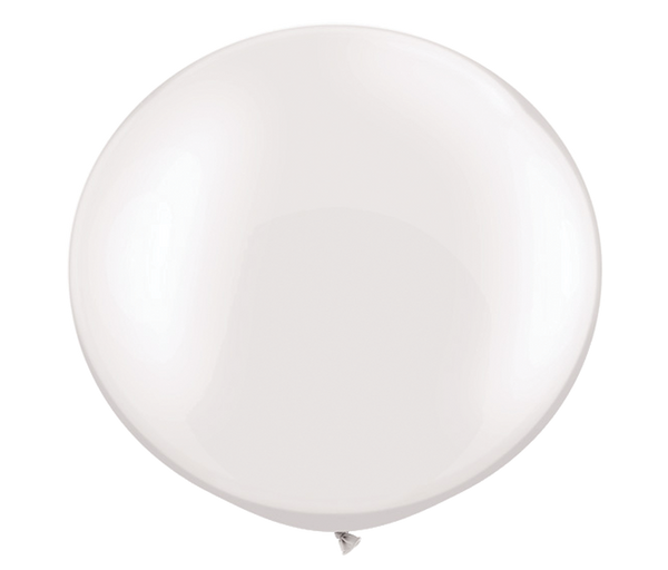 "30"" Pearl White Latex Balloon"
