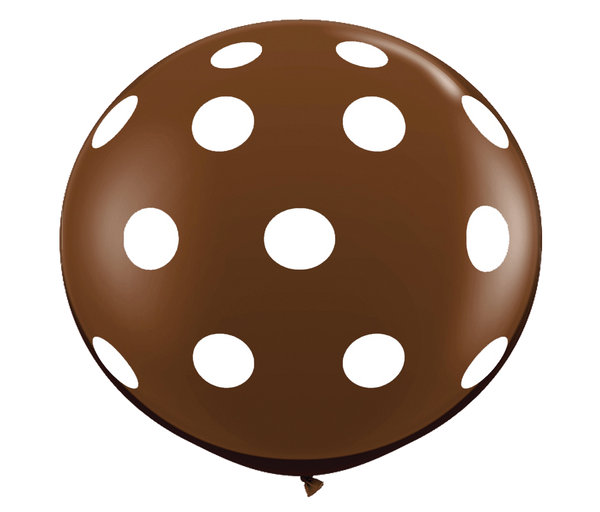 "36"" Chocolate Brown Polka Dot Balloon"