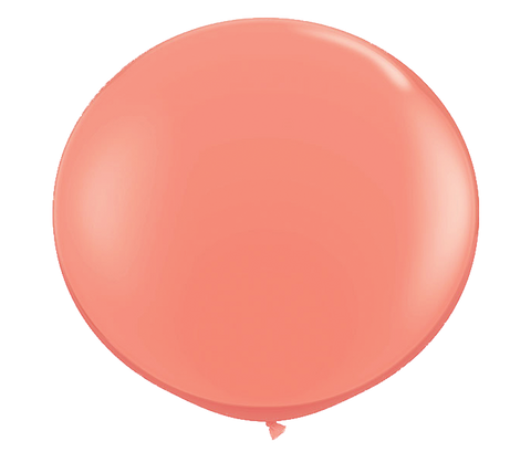 "36"" coral latex balloon"