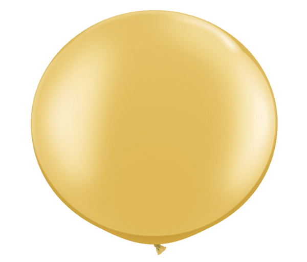 "36"" gold latex balloon"