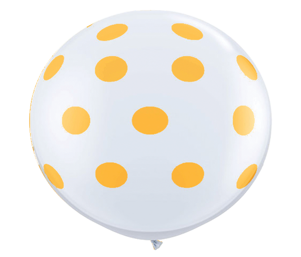 "36"" Goldenrod Reverse Polka Dot Balloon"