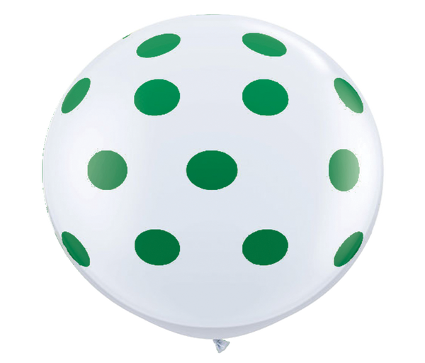 "36"" Green Reverse Polka Dot Balloon"