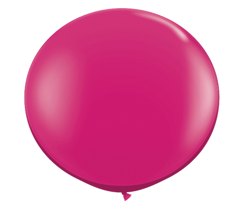 "36"" Jewel Magenta Latex Balloon"