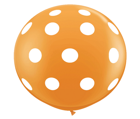 "36"" Orange Polka Dot Balloon"