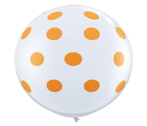 "36"" Orange Reverse Polka Dot Balloon"