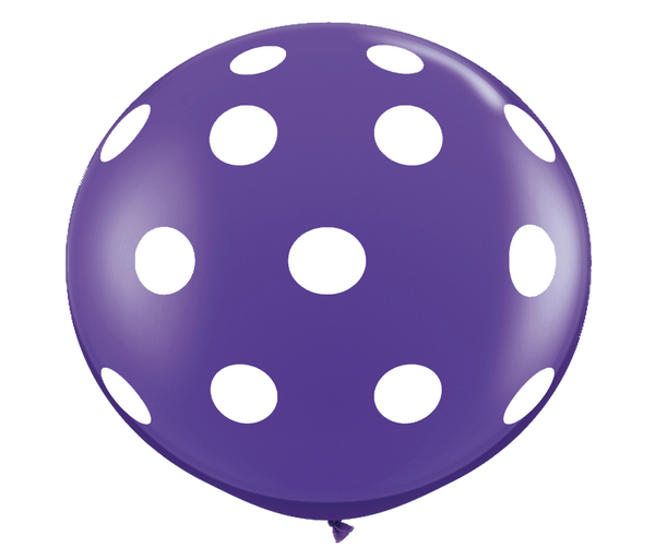 "36"" Purple Polka Dot Balloon"