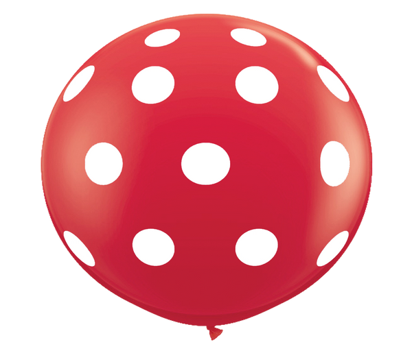 "36"" Red Polka Dot Balloon"