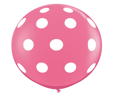 "36"" Rose Polka Dot Balloon"